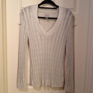 Chicos metallic sweater